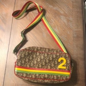 Authentic Dior Trotter Rasta Collection Crossbody